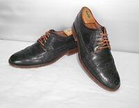 Men's Johnston & Murphy 1850 Black Leather Dress Wingtip Oxfords Size 9 D