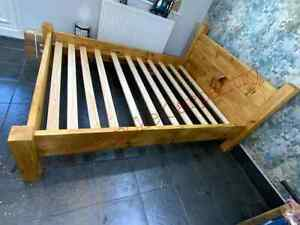 Solid wood rustic beds, planked single, double.  bed. made from reclaimed pine