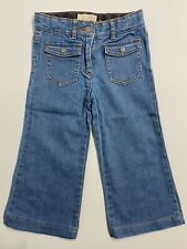 Stella McCartney Girls 4-Pocket Blue Stretch Cotton Bootcut Jeans - Age 4 Years