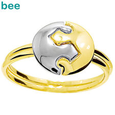Puzzle Circle 9ct 9k Solid Yellow Gold Ring Size P 7.75 45115