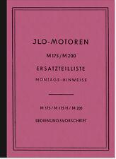 ILO M 175 H 200 Reparaturanleitung Ersatzteilliste Bedienungsanleitung Manual