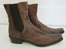 Carlo Ventura Made In Italy Brown Leather Pointy Toe Ankle Boot Men Size 45/11.5