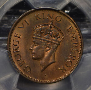 British India 1941 1/4 Anna PCGS MS63RB SW-9.231 PC0745 combine shipping