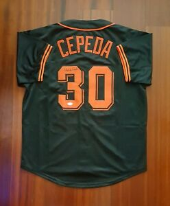 Orlando Cepeda Autographed Signed Jersey San Francisco Giants JSA