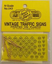 Blair Line N Scale Vintage Traffic Warning Signs (Plastic) # 43
