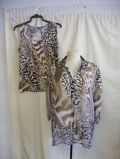 "Ladies Shirt & Cami JM Collection animal print chest 40"" length 31""stretch 7250"