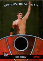 WWE Cody Rhodes 2010 Topps GOLD Superstar Swatch Relic Card SN 23 of 99