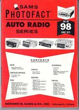 Sams Photofact-Auto Radio Manual/#AR-98/First Edition-First Print/1971