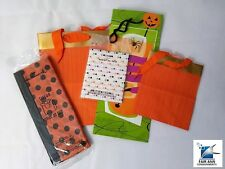 Party Halloween Supplies, Hallmark 3 Gift Bag's with Tissue NEW