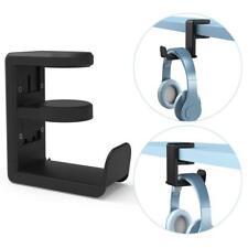 Headphone Desk Hanger Stand Adjustable Gaming Headset Holder (Black)