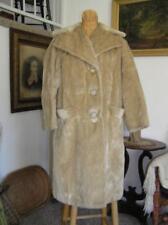 Fantastic 1960's Original Faux Seal Fur Coat by Russel Taylor size M