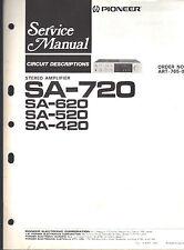 Pioneer service manual sa 720 620 520 420 stereo Original Repair Book