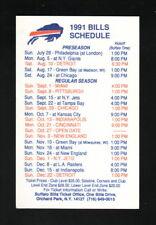 Buffalo Bills--1991 Pocket Schedule--McKinley Mall