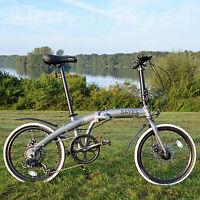 "ALU Klapprad 20"" Faltrad Fahrrad 8 Gang Shimano Scheibenbremsen grau matt !!"