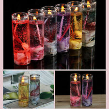 Glass Bottles Ocean Theme Smokeless Jelly Wax Wedding Gel Candles Sanwood