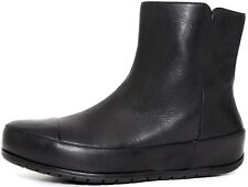 FitFlop Women's DueBoot Chelsea Black Leather Boots 3238* Size 8.5 NEW