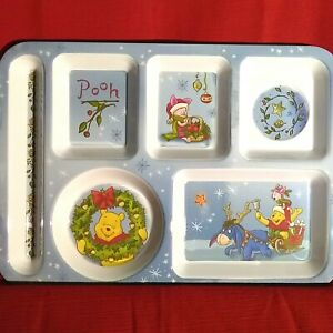 Disney Winnie the Pooh Child Toddler Divided Tray Plate 14 X 10 Holiday JCPenney