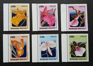 [SJ] Togo Orchids 1999 Flower Flora Plant (stamp with margin) MNH
