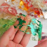 10Pcs Nail Art Glitter Silk Foil Manicure UV Gel Polish Glitter Decoration UK