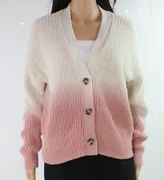 Madewell Women's Sweater Pink Beige Size Small S Cardigan Ombre Knit $110 #060