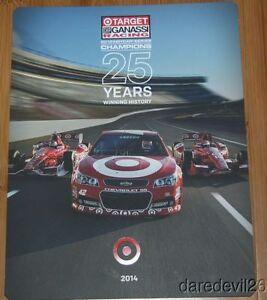 2014 Target Chip Ganassi Racing Indy Car NASCAR postcard Dixon Kanaan Larson