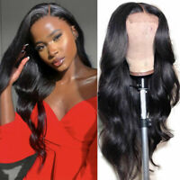 Brazilian Remy Lace Front Human Hair Wigs Long Wavy Full Lace Wig Glueless Thick