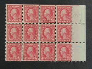 Nystamps US Stamp # 505 Mint OG NH $1100 Block of 12 color Error j16yg