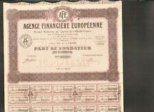 AGENCE FINANCIÈRE EUROPÉENNE (B)
