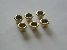 "Plain Brass Tuner Bushings Fit 7/32"" shaft 1/4"" hole-Old Kay & Harmony Sovereign"