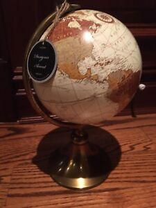 BRAND NEW WORLD GLOBE WITH BRASS STAND