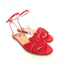 L-3805107 New Valentino Red Amour Heart Sandals Shoes Size US-9 Marked-39