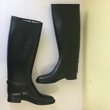 Cottage Craft Styled Paris SZ 38 XL ISREAL Equestrian Rain Boots Black Knee Boot