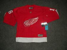 NWT REEBOK Womens Detroit Red Wings Sewn Hockey Jersey Farmer sz M