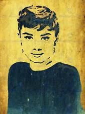 PAINTING PORTRAIT FILM ACTRESS AUDREY HEPBURN ART PRINT POSTER HP1748