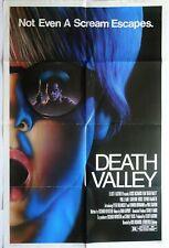 DEATH VALLEY 1982 ORIGINAL ONE SHEET POSTER PAUL LE MAT SLASHER MOVIE HORROR