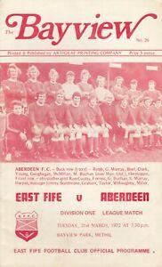 East Fife v Aberdeen 21 Mar 1972