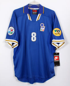 1996 EURO ITALY Home No.8 MUSSI  Player Issue S/S