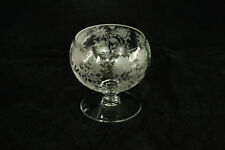 VINTAGE CAMBRIDGE GLASS WILDFLOWER ETCH # 3900/19 PRISTINE PATTERN BALL MAYO