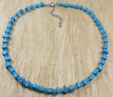 *Freedom Tree*Turquoise & Crystal Gemstone  Necklace Hand Woven Chakra /Healing