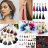 Women Ladies Bohemian Earrings Jewelry Long Tassel Fringe Boho Dangle Jewelry 51
