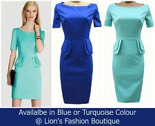 Karen Millen Patternless Short Sleeve Dresses Midi