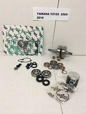 2005-2016 Yamaha YZ125 YZ-125 Complete Engine Rebuild Kit Piston & Crank Shaft