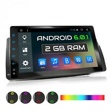 "9"" AUTORADIO MIT ANDROID 6.0.1 2GB RAM PASSEND FÜR BMW E46 3er GPS NAVI USB SD"