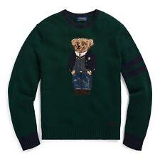 NWT Polo Ralph Lauren Preppy Bear Wool Knit Sweater ~ SMALL  $398