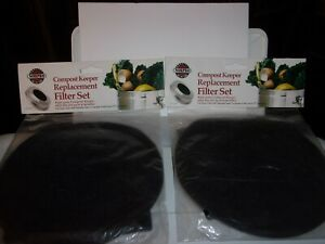 NORPRO Compost Keeper Replacement Filter Set 94F - Lot of 2 Sets - NEW Sealed