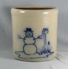 Maple City Pottery Snowman Mailbox Crock