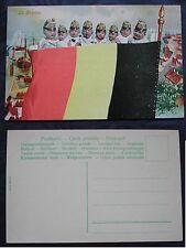 CARTOLINA PRIMA GUERRA MONDIALE WWI - FLAG -BANDIERE BELGIO - BELGIQUE - BELGICA