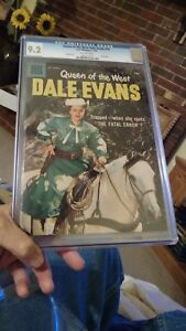 Vintage Queen of the West Dale Evans Dell Comic Book 1958 #18 CGC 9.2 Roy Rogers