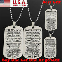 To My Son Daughter I Want You To Believe Love Dad Mom Dog Tag Military Necklace