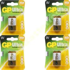 4 x GP batteries ultra 9V MN1604 6LR61 PP3 Bloc 6lf22 alcaline